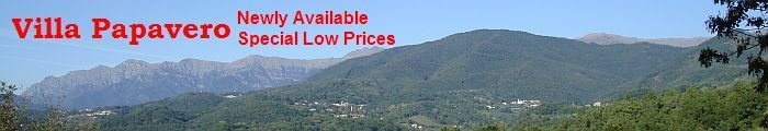 Tuscany Villa Holiday - Villa Accommodation - View Across The Valley from Villa Papavero